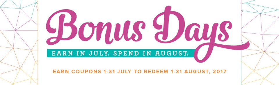 Bonus Days, Bonus Days coupons, Ann's PaperWorks| Ann Lewis| Stampin' Up! (Aus) available from my online store 24/7