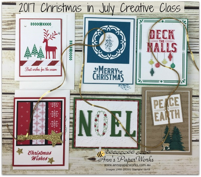 Christmas Cards, Christmas in July, Be Merry Stampin' Up!, Carols of Christmas Stampin' Up!, Merry Mistletoe Stamp Set, Stampin' Up! 2017-18 Catalogue Ann's PaperWorks| Ann Lewis| Stampin' Up! (Aus) online store 24/7