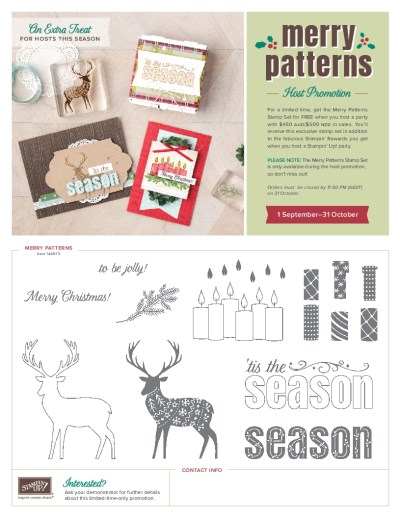 Merry Patterns Stamp Set, Stampin' Up! 2017 Christmas Holiday Catalogue Ann's PaperWorks| Ann Lewis| Stampin' Up! (Aus) online store 24/7