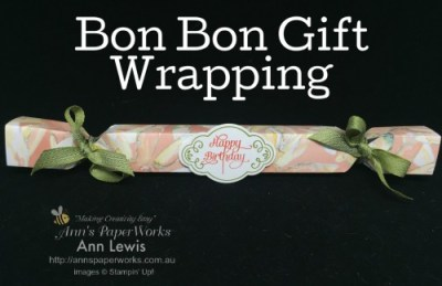 Bon Bons with the Envelope Punch Board, gift wrapping, YouTube video tutorial, Stampin' Up! 2017-18 Catalogue Ann's PaperWorks | Ann Lewis | Stampin' Up! (Aus) online store 24/7
