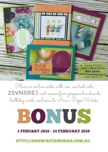 Picture Perfect Designer Series Paper, bonus card offer, Stampin' Up! Ann's PaperWorks, Ann Lewis, Stampin' Up! (Aus)|Stampin' Up! 2018 Occasions Catalogue| online store 24/7