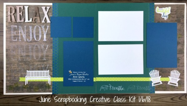Scrapbooking Class Kit, Wood Textures Designer Series Paper, Colorful Seasons Bundle by Stampin' Up!, Large Letters Framelits, I Love What I Do Stamp Set, Stampin' Up! 2018-19 Catalogue Ann's PaperWorks| Ann Lewis| Stampin' Up! (Aus) online store 24/7
