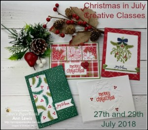 Christmas in July, shoebox class, Under the Mistletoe Suite, Stampin' Up! 2018-19 Catalogue Ann's PaperWorks| Ann Lewis| Stampin' Up! (Aus) online store 24/7, Christmas cards
