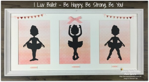 framed art, Ballet themed, handmade gift, handmade gift for young girl, Pick a Pennant Stamp Set, Stampin' Up! 2018-19 Catalogue Ann's PaperWorks| Ann Lewis| Stampin' Up! (Aus) online store 24/7, ballet dancer image svg file