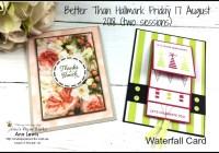 Waterfall card, Broadway Bound DSP, Petal Promenade DSP, handmade cards, handmade card class, Brisbane Augstralia.