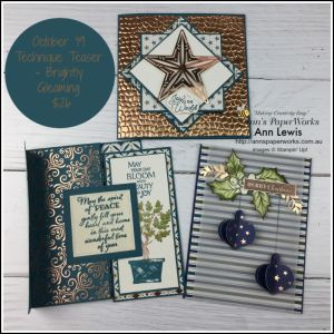 Brightly Gleaming Specialty Designer Series Paper, handmade cards, card making classes, Stampin' Up! 2019 Christmas Holiday Catalogue Ann's PaperWorks| Ann Lewis| Stampin' Up! (Aus) online store 24/7