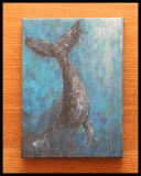 Diving Whale in Acrylic