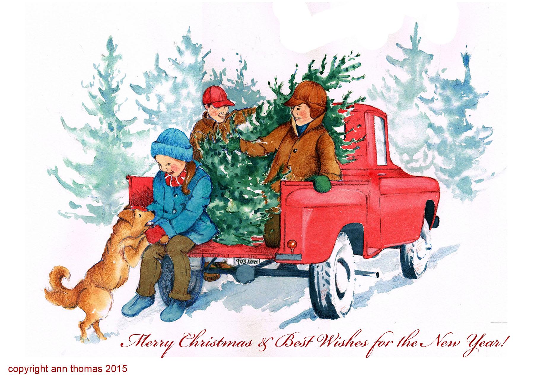 Christmas Cards Ann Thomas Illustration