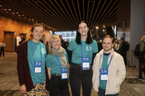 Four attendees pose for a picture at the 2019 AAA/CASCA Annual Meeting in Vancouver.