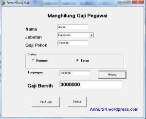 Contoh Program Dengan Fungsi If Pada Delphi Menghitung