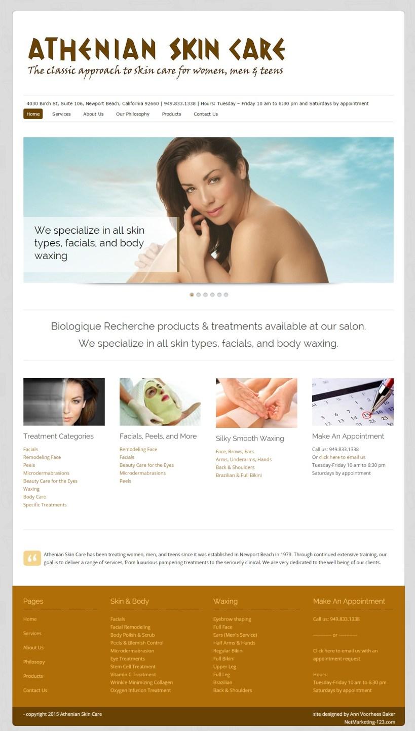 Athenian Skin Care Website