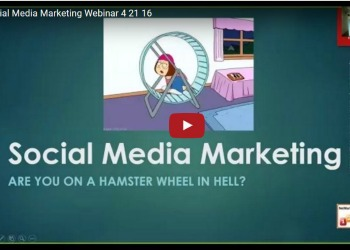cartoon woman on hamster wheel