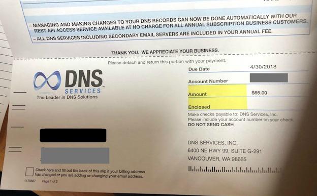 bogus bill DNS