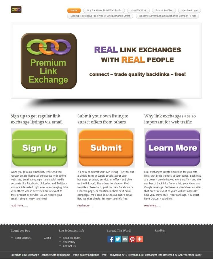 Premium Link Exchange Website