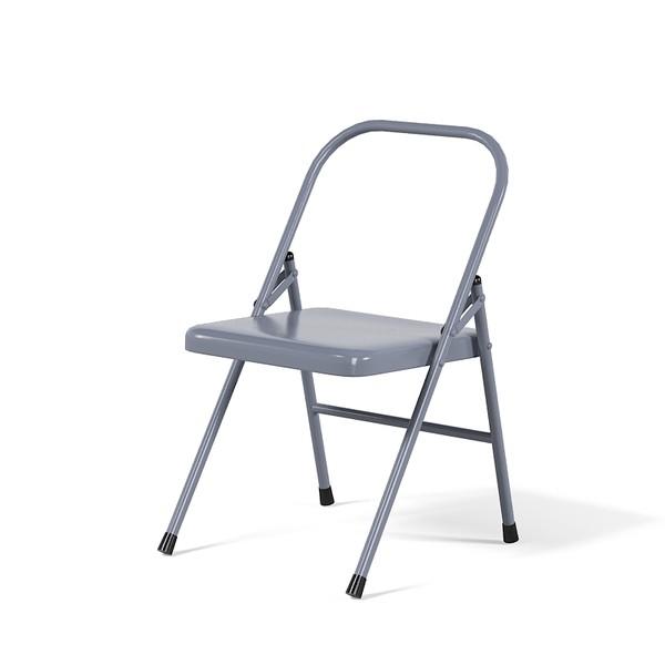 folding metal yoga chair wicker side