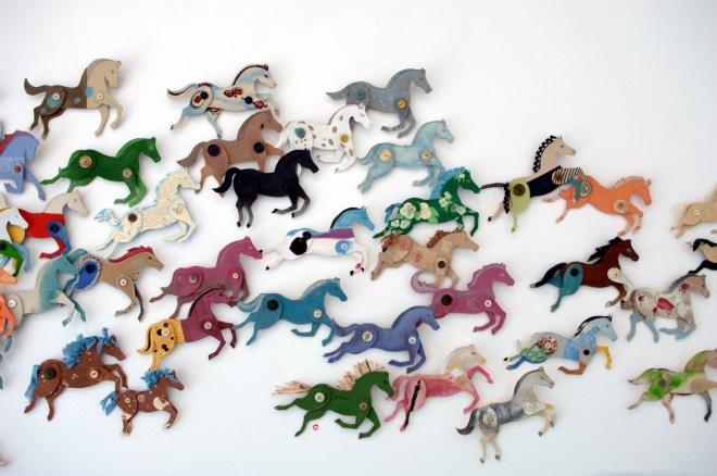 cardboard horses