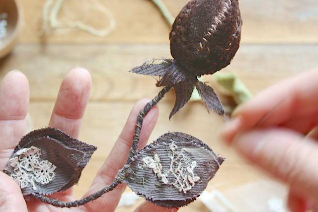 textile art seed pod