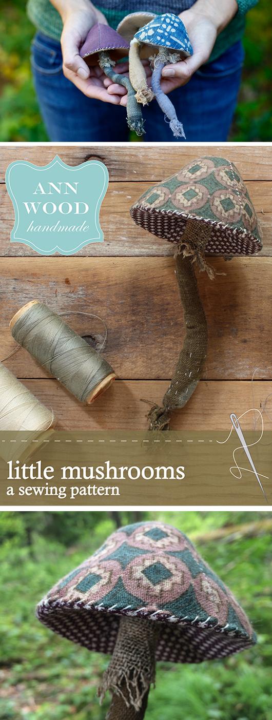 ann wood mushroom pattern