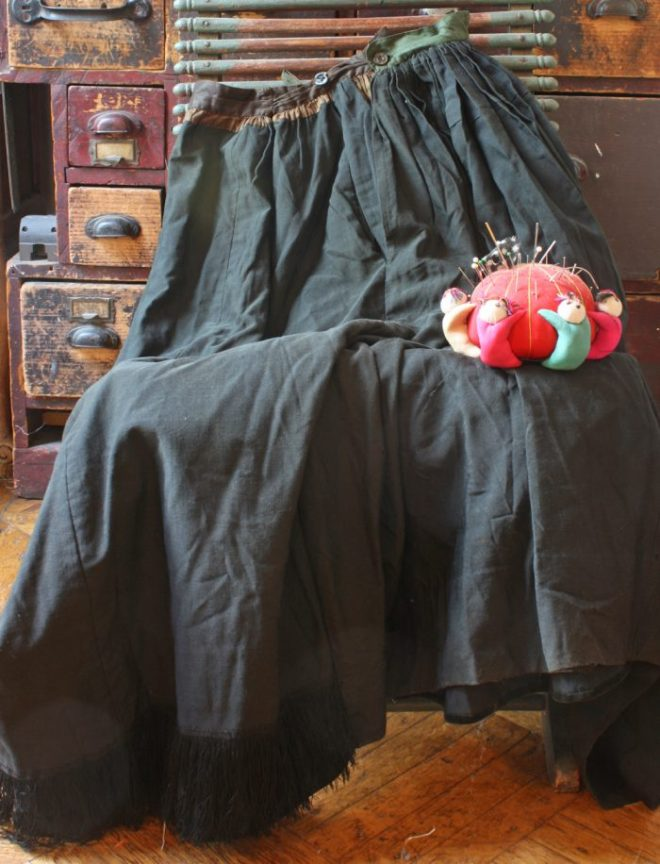 black edwardian skirt