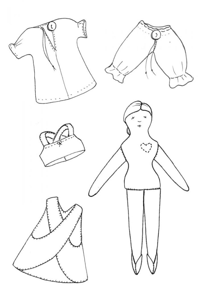 tiny rag doll wardrobe