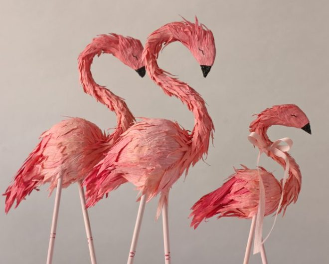 flamingo caketoppers