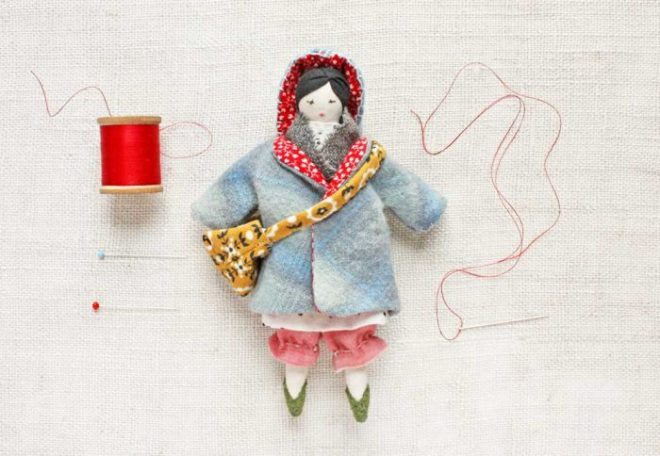 tiny rag doll winter wardrobe