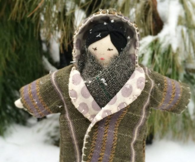 winter rag doll