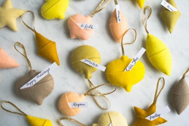 felt ornament gift tags