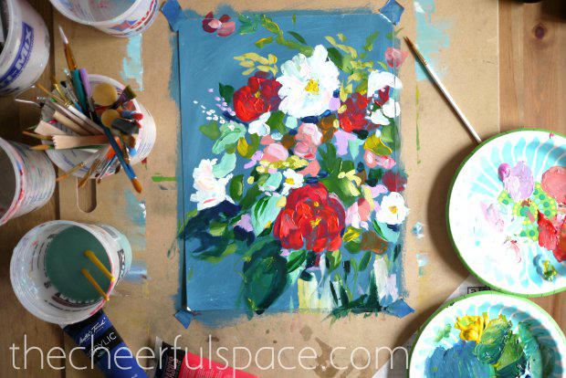 the cheerful space diy