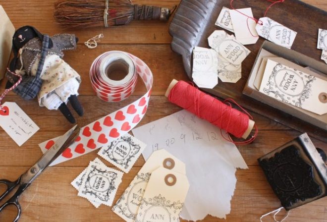 making handmade tags and packaging