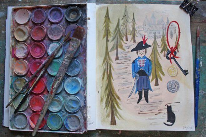 ann wood sketchbook :1/28 2018
