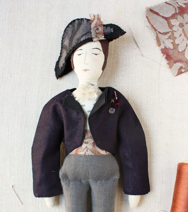 soldier rag doll with bicorne hat
