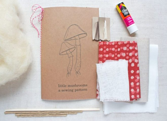 mushroom sewing kit supplies