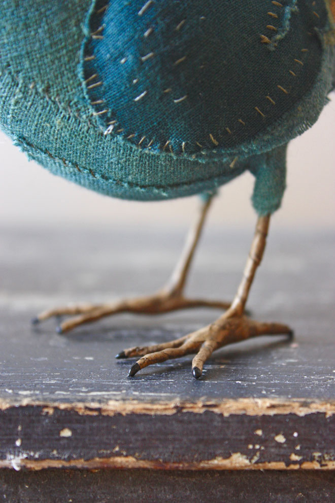 bird foot made from paper and wire
