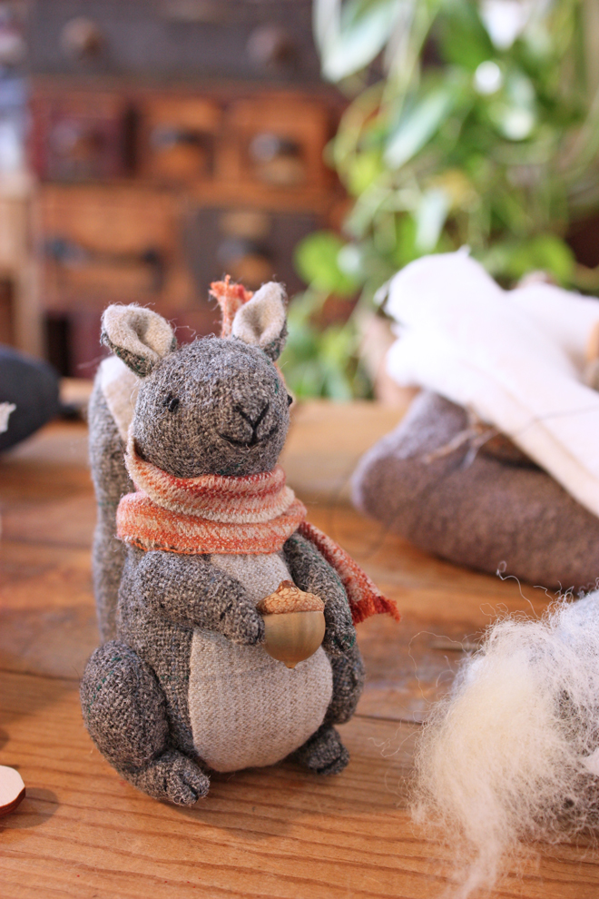little hand stitched squirrel