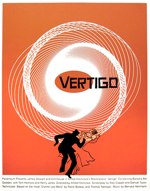 Saul Bass Vertigo special movie poster
