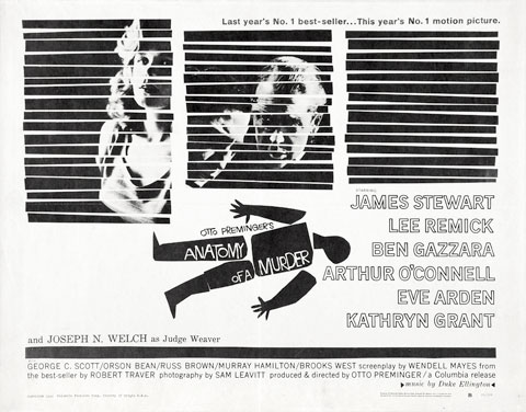 Image result for anatomy of a murder movie poster 1959