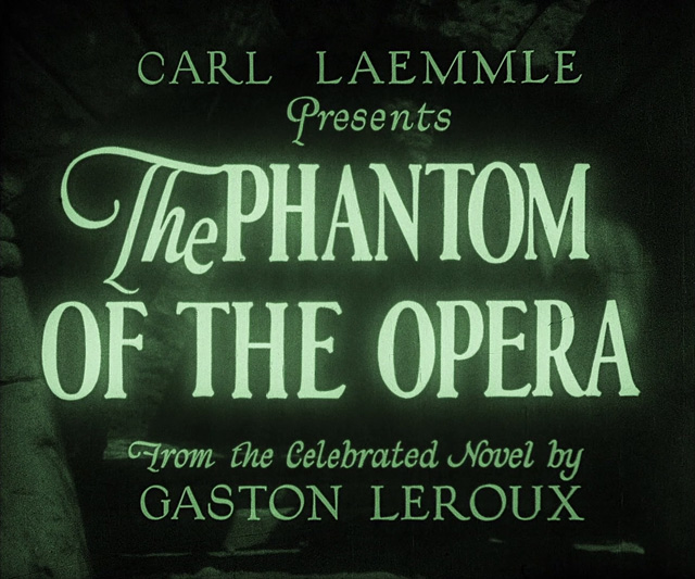 Image result for The Phantom of the Opera 1925 title
