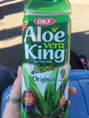 Got this from a Korean market vendor at the Korea Festival. I luuuuurve aloe!