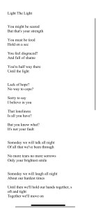 Light the light lyrics