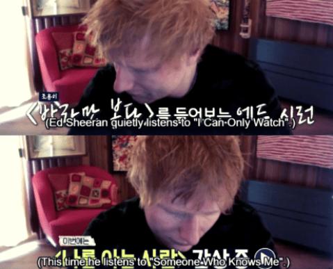 Ed Sheeran listens to MSG Wannabe Songs