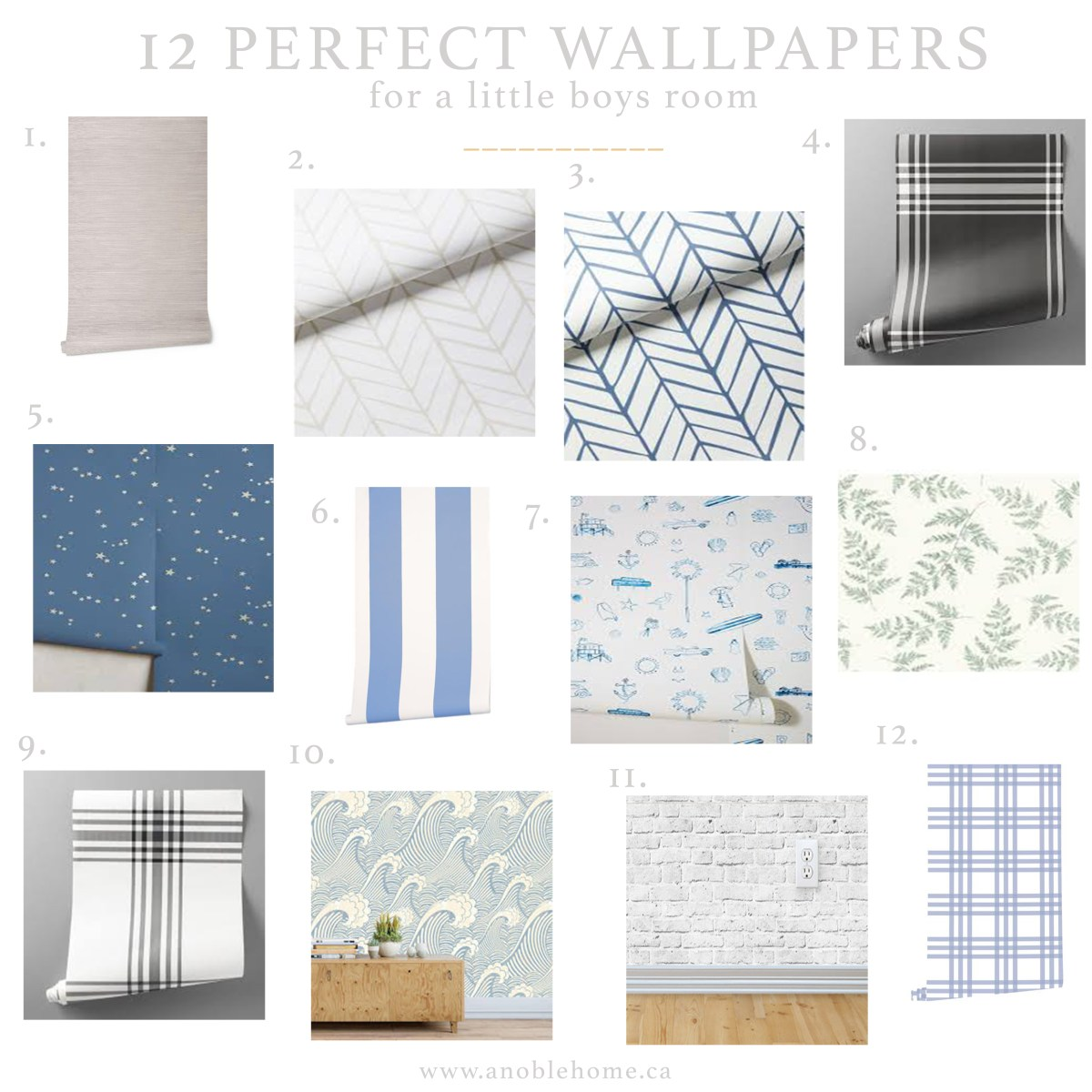 12 Wallpapers For A Little Boys Room
