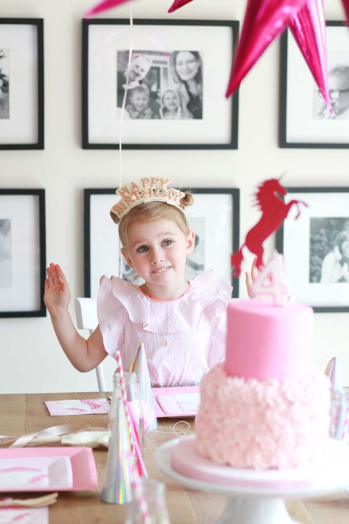 Ainsleys Pink Pink Unicorn 4th Birthday