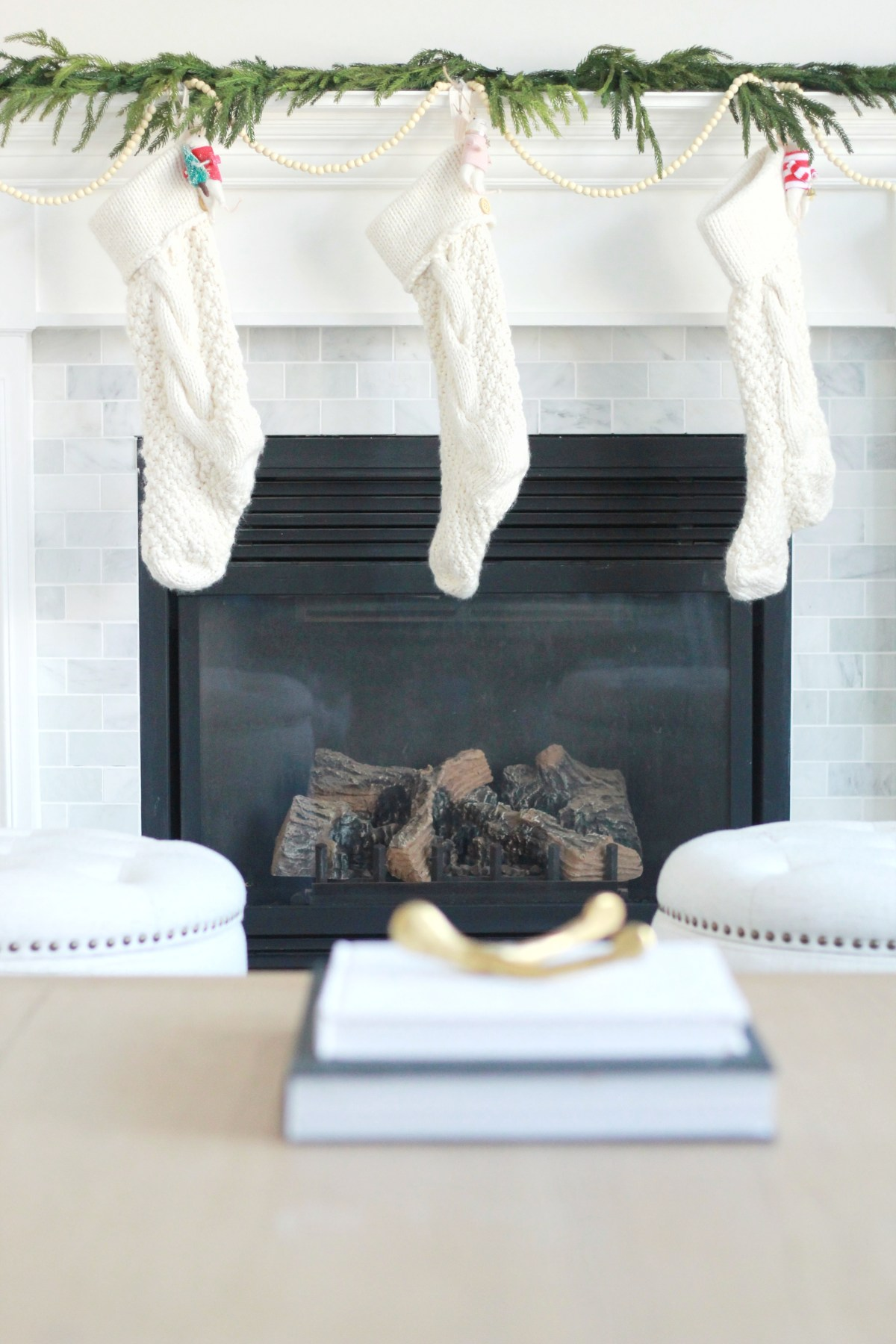 Our Fireplace got a marble makeover!