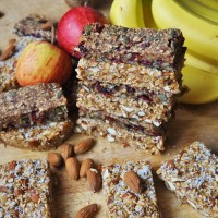 Vegan Muesli/Granola Bar - Two Ways, Both Sugar and Gluten Free!