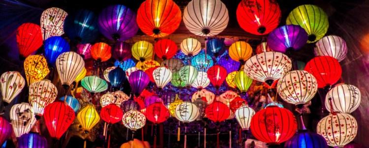 Colourful Vietnamese Lanterns, Hoi An, Old Town, Markets, Vietnam