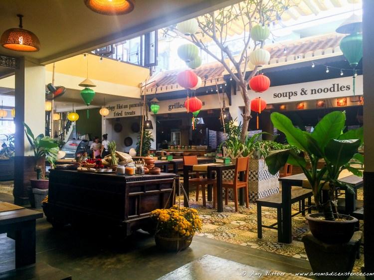 The 'street food' stalls at Vy Market Restaurant.