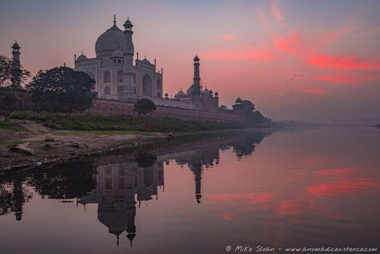 Sunset over the Taj Mahal