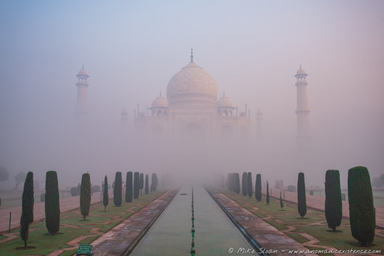 Taj Mahal in Morning Fog