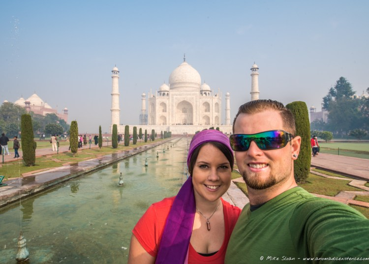 We couldn't leave without the obligatory selfie - the Taj Mahal is beautiful!